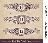retro floral chapter dividers   ... | Shutterstock .eps vector #117306997
