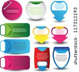 web elements collection   Shutterstock .eps vector #117312193