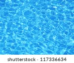 Swimming pool water. Aqua texture - stock photo