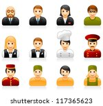hotel and restaurant staff... | Shutterstock .eps vector #117365623