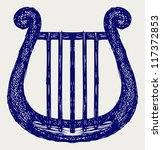 illustration of lyre. doodle...   Shutterstock .eps vector #117372853