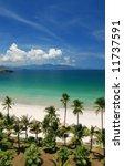beach scene  tropics  pacific... | Shutterstock . vector #11737591