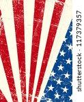 usa  grunge poster. an american ... | Shutterstock .eps vector #117379357