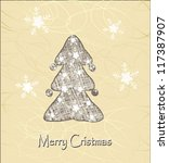 stylish christmas tree | Shutterstock .eps vector #117387907