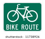 Bicycle Route Guide Sign On...