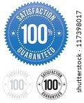 satisfaction guaranteed seals... | Shutterstock .eps vector #117398017