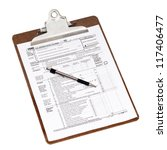 u.s. 2012 income tax form 1040... | Shutterstock . vector #117406477