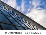 angled view of a glass wall of... | Shutterstock . vector #117412273