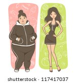 fat and slim girls