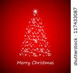christmas tree from stars on... | Shutterstock .eps vector #117433087