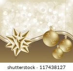 abstract christmas background | Shutterstock .eps vector #117438127