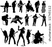 musician vector | Shutterstock .eps vector #11745112