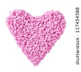 Pink candy hearts on a white background - stock photo