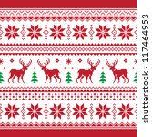 christmas and winter knitted... | Shutterstock .eps vector #117464953