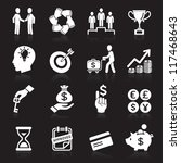 business icons  management and... | Shutterstock .eps vector #117468643