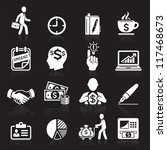 business icons  management and... | Shutterstock .eps vector #117468673