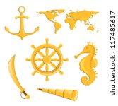vector illustration of nautical ... | Shutterstock .eps vector #117485617