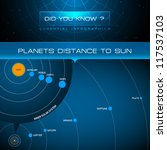 vector infographic   planets... | Shutterstock .eps vector #117537103