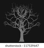 dead tree   halloween concept | Shutterstock .eps vector #117539647