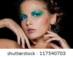 fashion brunette girl.... | Shutterstock . vector #117540703