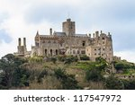 St. Michael���´s Mount in Cornwall (near village of Marazion), UK - stock photo