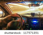 driving at the speed of light - stock photo