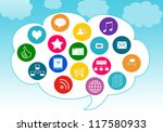 colorful image for the web of... | Shutterstock . vector #117580933