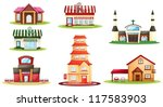 illustration of various houses... | Shutterstock .eps vector #117583903