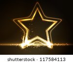 overlying semitransparent stars ... | Shutterstock .eps vector #117584113