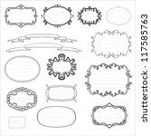 ornamental set of black and... | Shutterstock .eps vector #117585763