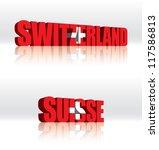 3d vector switzerland  suisse ... | Shutterstock .eps vector #117586813
