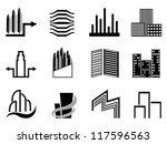 real estate and city buildings... | Shutterstock .eps vector #117596563