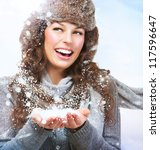 Christmas Girl.winter Woman...