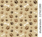 Seamless Pattern With Brown...