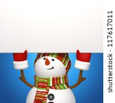 snowman message board - stock photo