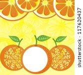 orange pattern background... | Shutterstock .eps vector #117620437
