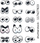 cartoon eyes collection | Shutterstock .eps vector #117627823