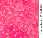 seamless pattern with things... | Shutterstock .eps vector #117640933
