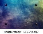 Scratched Colored Metal Plate