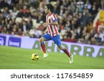 VALENCIA - NOVEMBER 3: Arda during Spanish Cup match between Valencia CF and AT Madrid, on November 3, 2012, in Mestalla Stadium, Valencia, Spain - stock photo