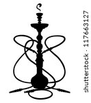 eastern hookah | Shutterstock .eps vector #117663127
