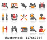 Job and human resource Icons set - stock vector