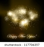 Fireworks background - stock vector