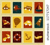 vector illustration of stamp of ... | Shutterstock .eps vector #117717247