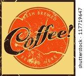 retro vintage coffee | Shutterstock .eps vector #117719647