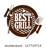 best grill icon. | Shutterstock .eps vector #117719713