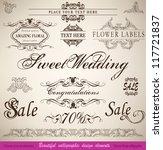 vector set  calligraphic floral ... | Shutterstock .eps vector #117721837