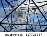 high voltage post.high voltage... | Shutterstock . vector #117729967