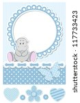 Baby Hippo Blue Scrapbook Set