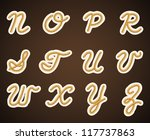 font rope. part 2 | Shutterstock .eps vector #117737863